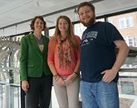Madeleine Emms, Arlie McCarthy and Patrick Brechka