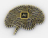 Artificial intelligence brain illustration