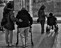 Detail from Alzheimer's patients and carers - credit Global Panorama