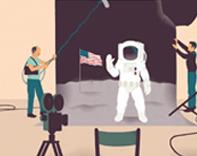 Man on the moon? Illustration by Sébastien Thibault