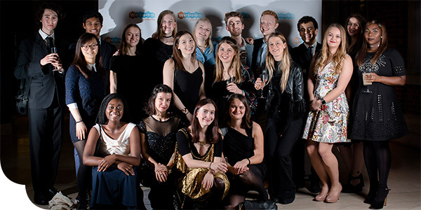 Watersprite 2017 committee, including Benedict and Isobel, at the festival reception