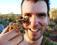 Jack Ashby with a Thorny Devil in Australia