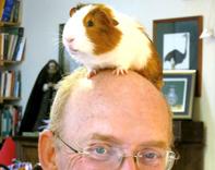 Martin Jenkins and furry friend