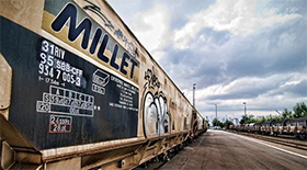 Train with millet wagon