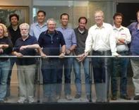 Some of the international team of ecologists