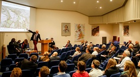 Alumni panel discussion at the Geological Society in London