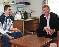 Fraser Waters (left) and Sebastian Faulks (right) - credit Peter Stuart