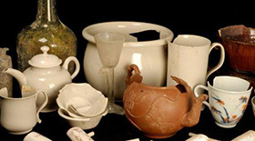 Some finds from finds from Clapham's Coffee House - credit Cambridge Archaeological Unit