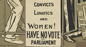 Women's suffrage poster detail - credit Cambridge University Library