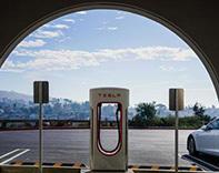 Tesla supercharger - credit Chase Lewis