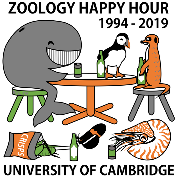 Winning design for the Happy Hour t-shirt