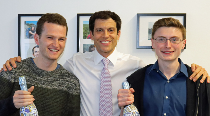 Matt Hayes and Andrew Catherall with Dr Tim Weil