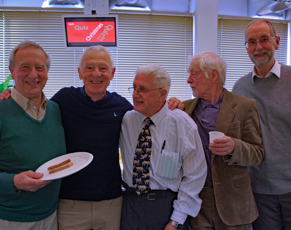 John Johnson, second from the left at the Xmas Party 2017