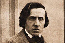 Sepia photograph of Fryderyck Chopin