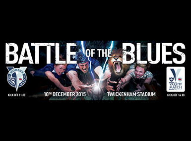 Varsity Rugby Matches 2015 - Battle of the Blues banner