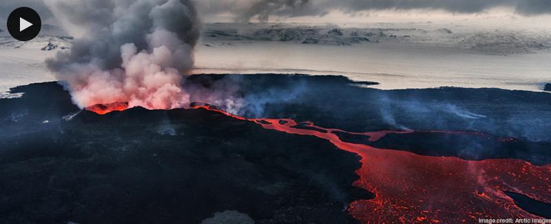 Bardabunga-Haluhraun fissure eruption, Iceland 2014, credit: Arctic Images