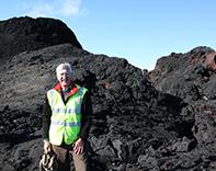 Professor Robert White in Iceland 2015