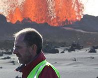 Professor Simon Redfern in Iceland 2015