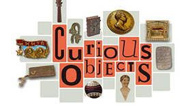 Curious objects exhibition graphic