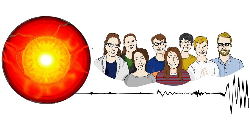 Graphic of the Deep Earth research group