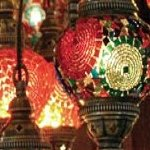 Lamps for sale in the Grand Bazaar