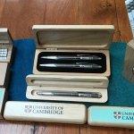 Samples of personalised alumni gift boxes