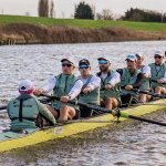 CUBC rowers on the water