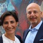 Dr Victoria Kimonides (Alumni Advisory Board member) and Gideon Fisher (Chairman of the Cambridge Club of Israel)