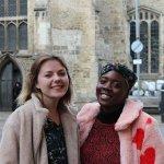 Claire (left) and Christine (right) in Cambridge city centre