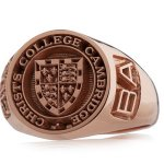 Rose gold signet 1 with Christ's and BA customisations