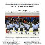 Cambridge University Ice Hockey Club 2013 newsletter cover