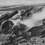 Heavy British battery in increased fire activity
