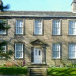 The Brontë Parsonage, now a museum, in Haworth, Yorkshire, England.