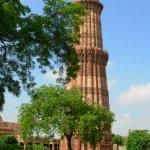 Qutb Minar from its gardens, Delhi.