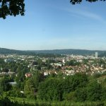 """The view from the """"Bäumli Park"""" to the Gardencity Winterthur Switzerland"""