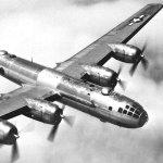 B-29 in flight.