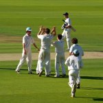 CUCC Men's Blues celebrate at Lord's