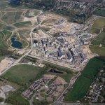 Aerial view of Eddington