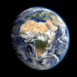 Earth from space, showing the continent of Africa