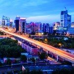 Sunset over Beijing's CBD