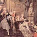 William Hogarth - The Children's Theatre in John Conduit's House