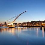 Dublin cityscape at twilight
