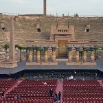 Inside the Arena di Verona, the second largest roman amphitheater in the world and famous for its opera performances.