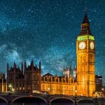 Houses of Parliament, London, by night