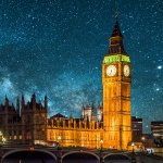 London starry night