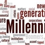 Word cloud to describe millenials