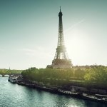 View of the River Seine and Eiffel Tower