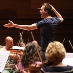 Orchestral rehearsal with conductor Andrew Gourlay