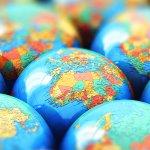 Many small globes