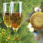 Champagne in tree